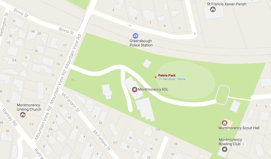 Petrie Park Map